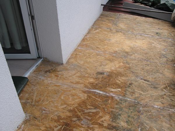 Fußboden Osb Platte ~ Balkon aus holz abdichten osb holz spanplatte tischlerplatte für